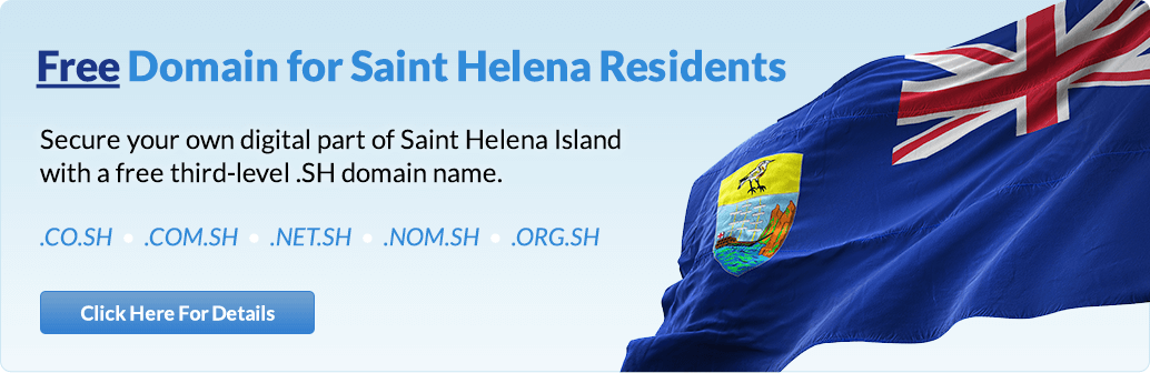 Free domain for Saint Helena residents